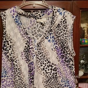 Animal print sleeveless top,